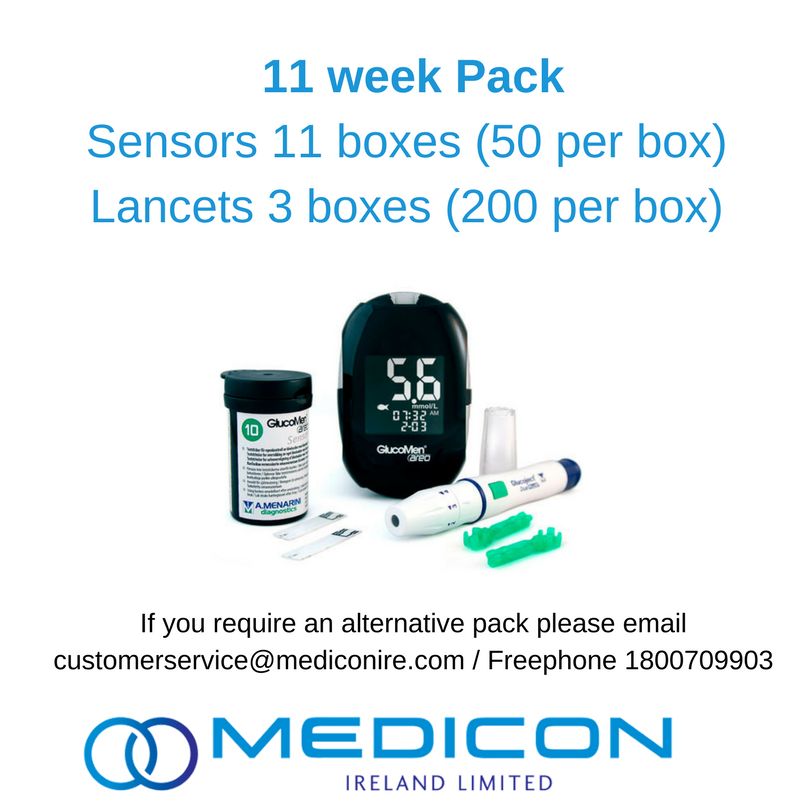 11 Weeks Gestational Diabetes Blood Glucose Monitoring Pack