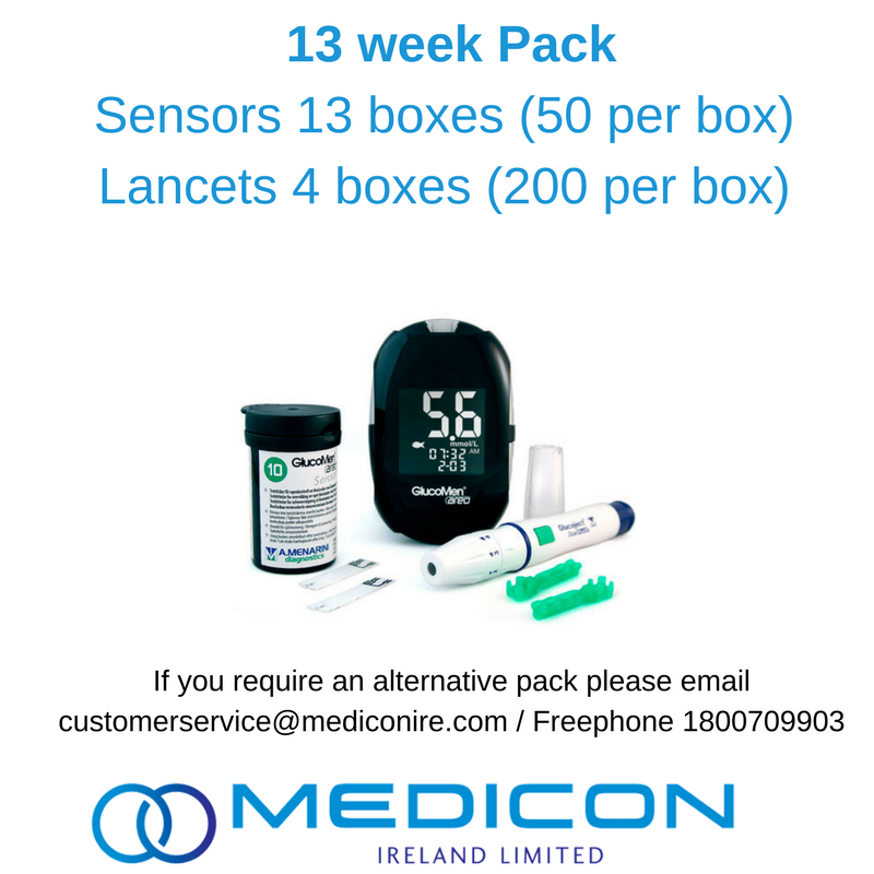13 Weeks Gestational Diabetes Blood Glucose Monitoring Pack