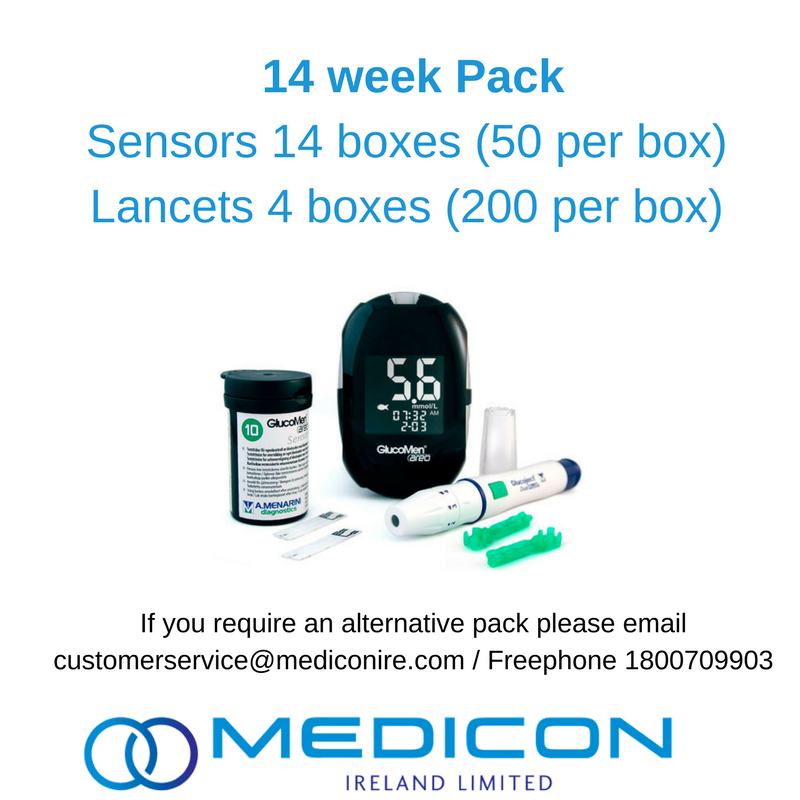 14 Weeks Gestational Diabetes Blood Glucose Monitoring Pack