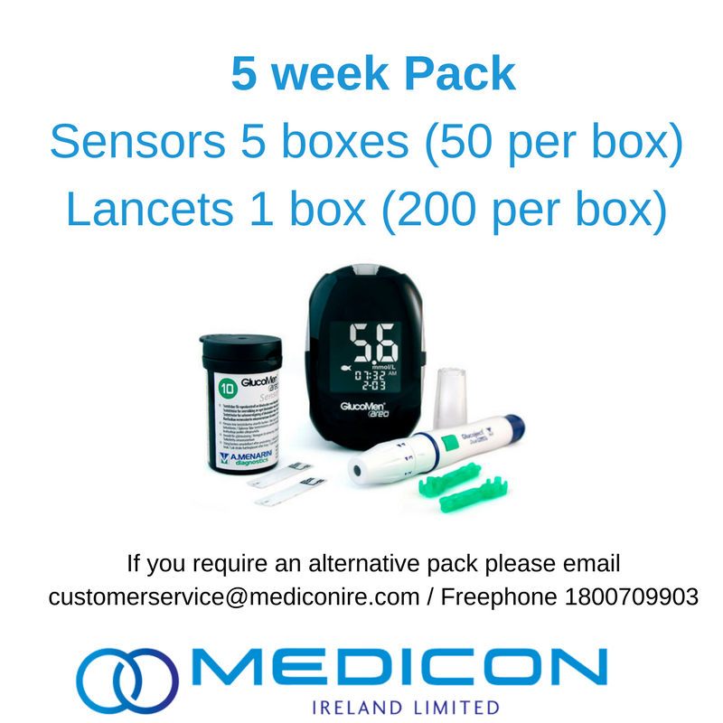 05 Weeks Gestational Diabetes Blood Glucose Monitoring Pack