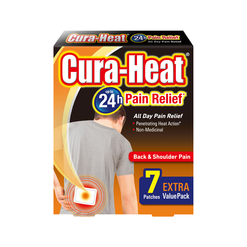 Cura-Heat Back & Shoulder Pain Relief Extra Value Pack 7s