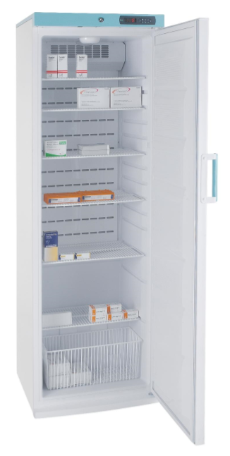 PSR353UK Freestanding Pharmacy Fridge Solid Door 353L White