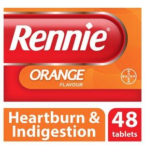 Rennie Orange Chewable Tablets 48s