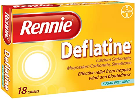 Rennie Deflatine Tablets 18s
