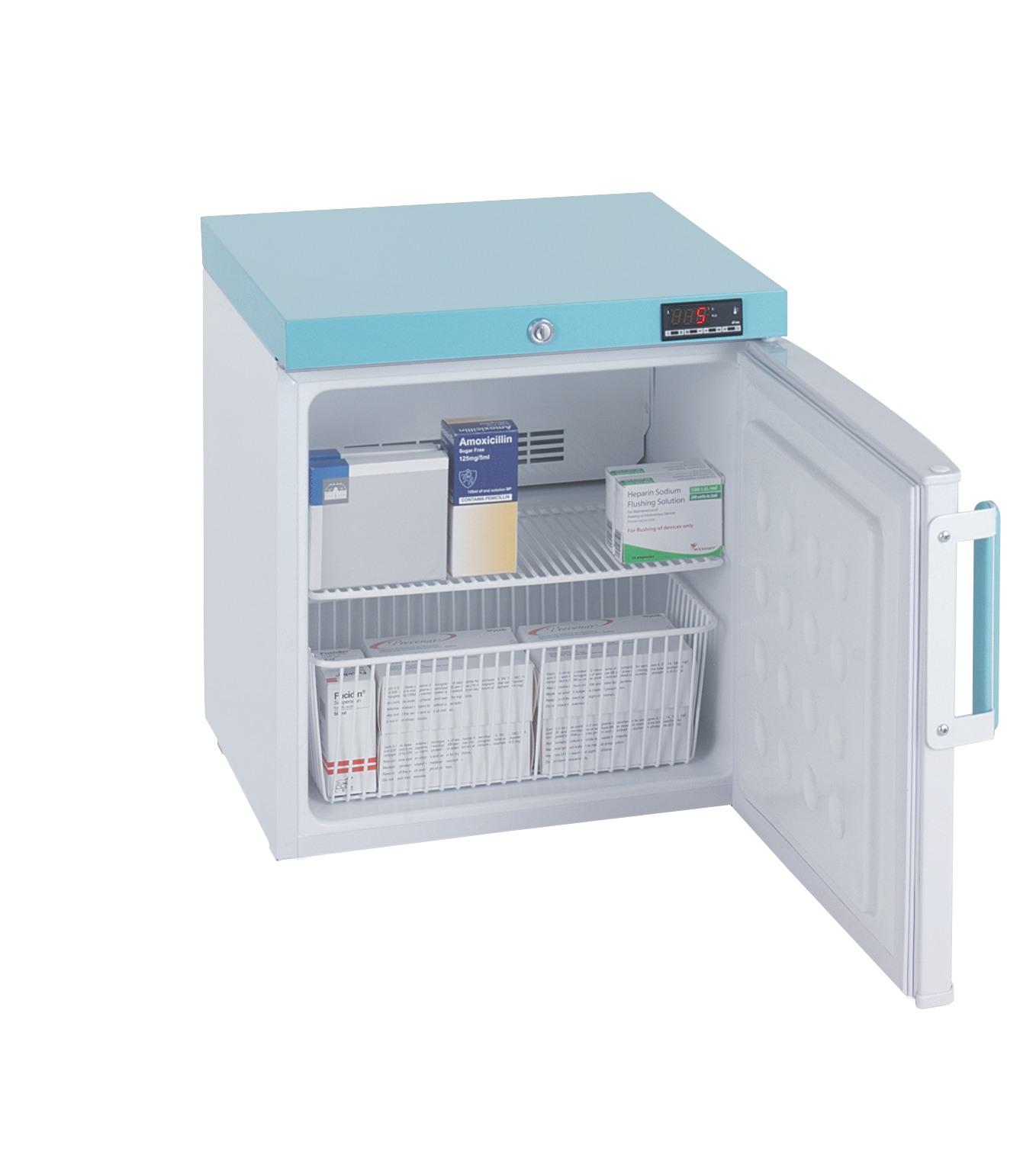 PE109C Countertop Pharmacy Fridge Solid Door 45L White