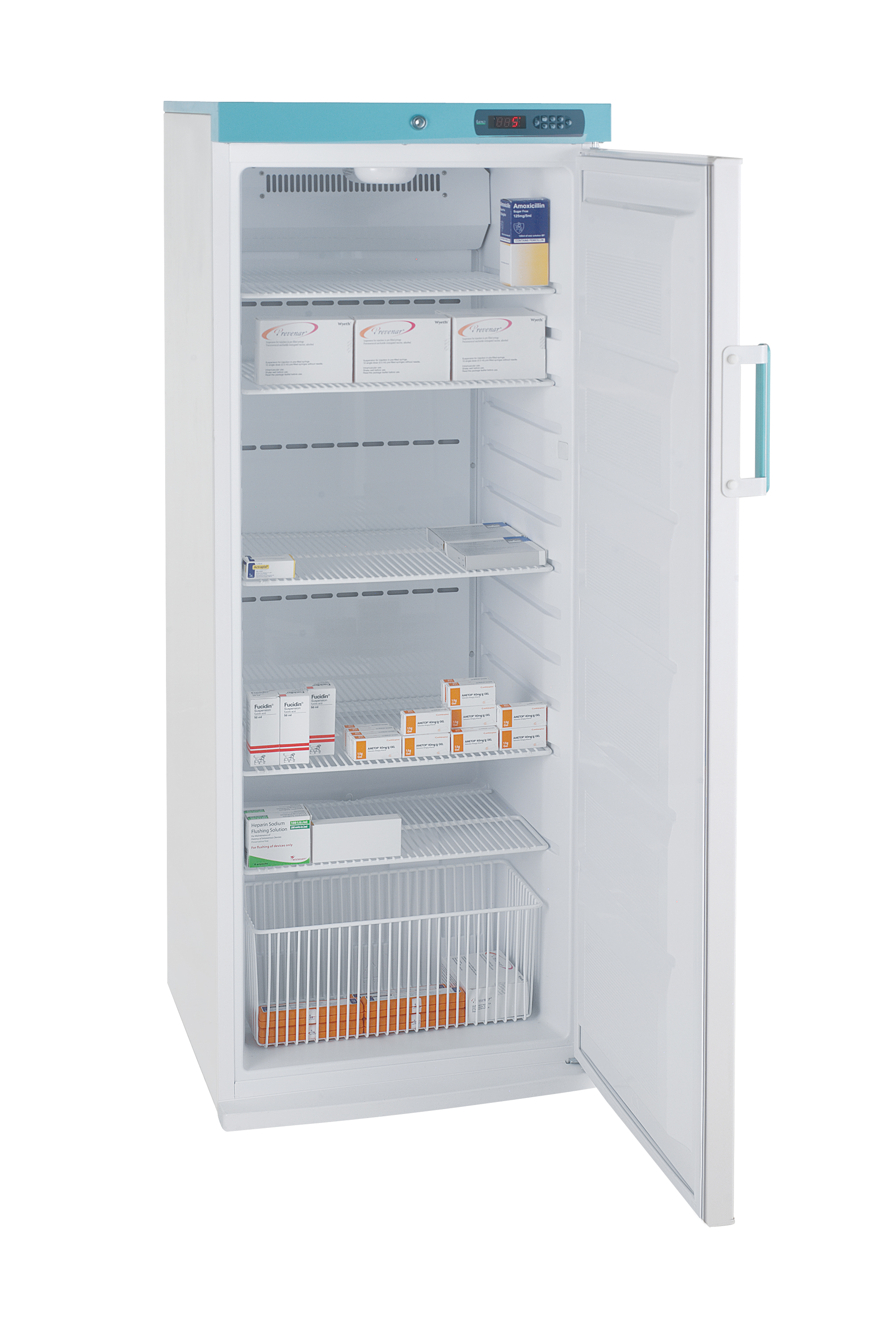 PSR273UK Freestanding Pharmacy Fridge Solid Door 273L White